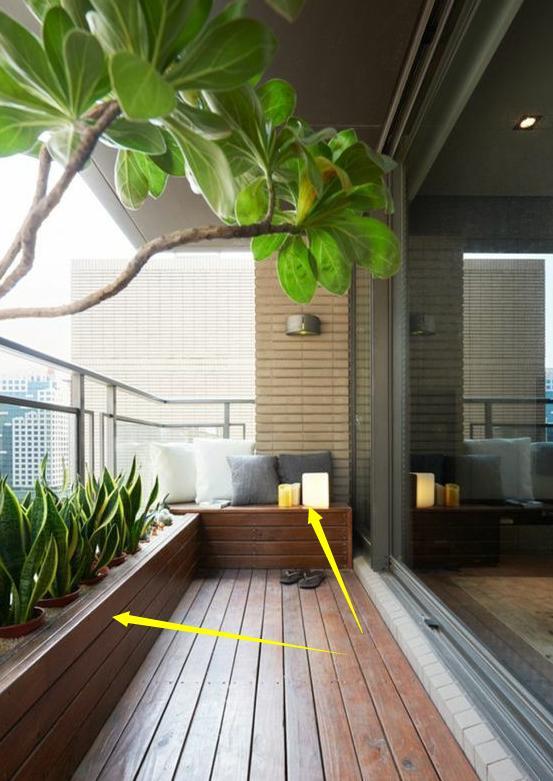 阳台柜横着打,能当地台坐着休闲,掀开盖子又能储物,我家也要打插图14