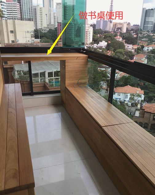 阳台柜横着打,能当地台坐着休闲,掀开盖子又能储物,我家也要打插图6