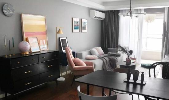 89平高级灰+绿北欧三居,软装前后对比-丝买家·社区