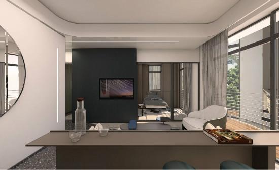 55㎡灰棕+绿,打造怀旧轻时尚风格住宅插图8