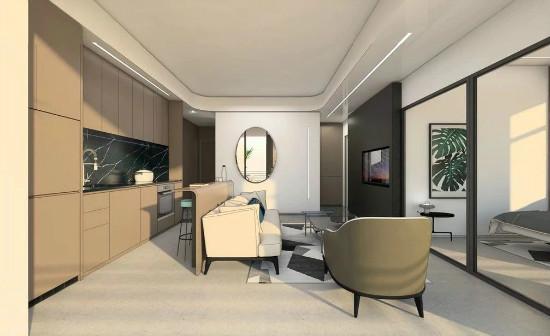 55㎡灰棕+绿,打造怀旧轻时尚风格住宅插图12