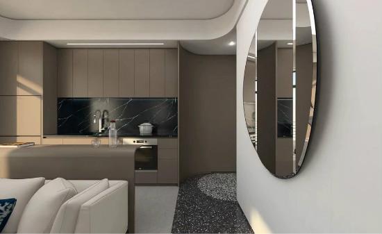55㎡灰棕+绿,打造怀旧轻时尚风格住宅插图10