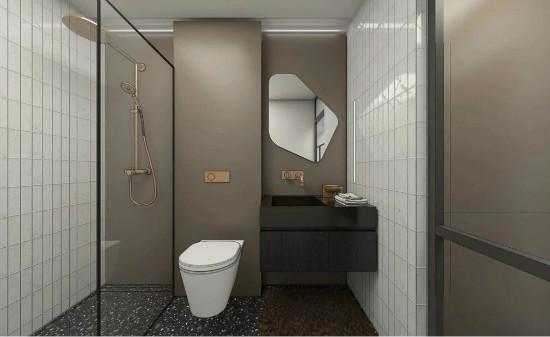 55㎡灰棕+绿,打造怀旧轻时尚风格住宅插图22
