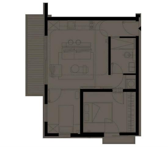 55㎡灰棕+绿,打造怀旧轻时尚风格住宅插图2
