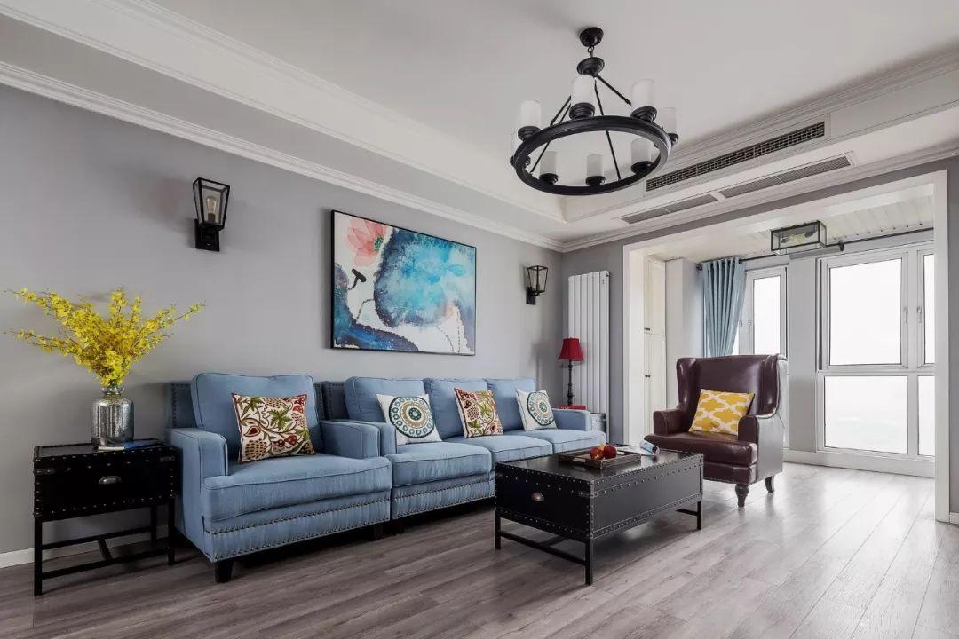 客厅沙发色彩这样搭配,都不想回房间睡觉了-丝买家·社区