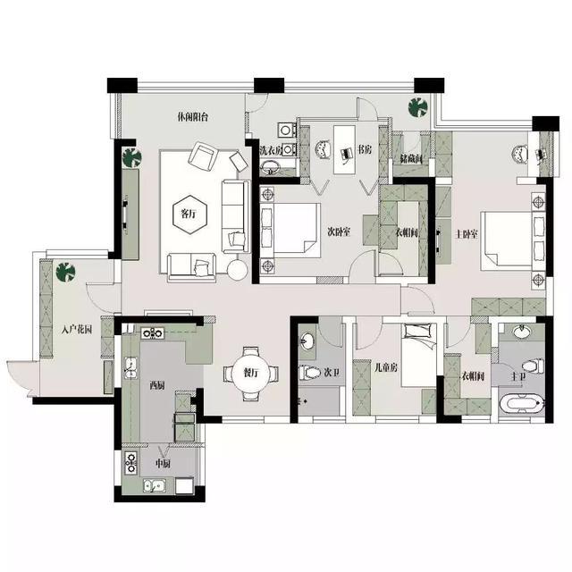 180㎡美式,拥有17个空间和强大的储物功能!-丝买家·社区